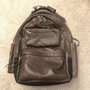 John Varvatos Leather Backpack (Retails for $498)
